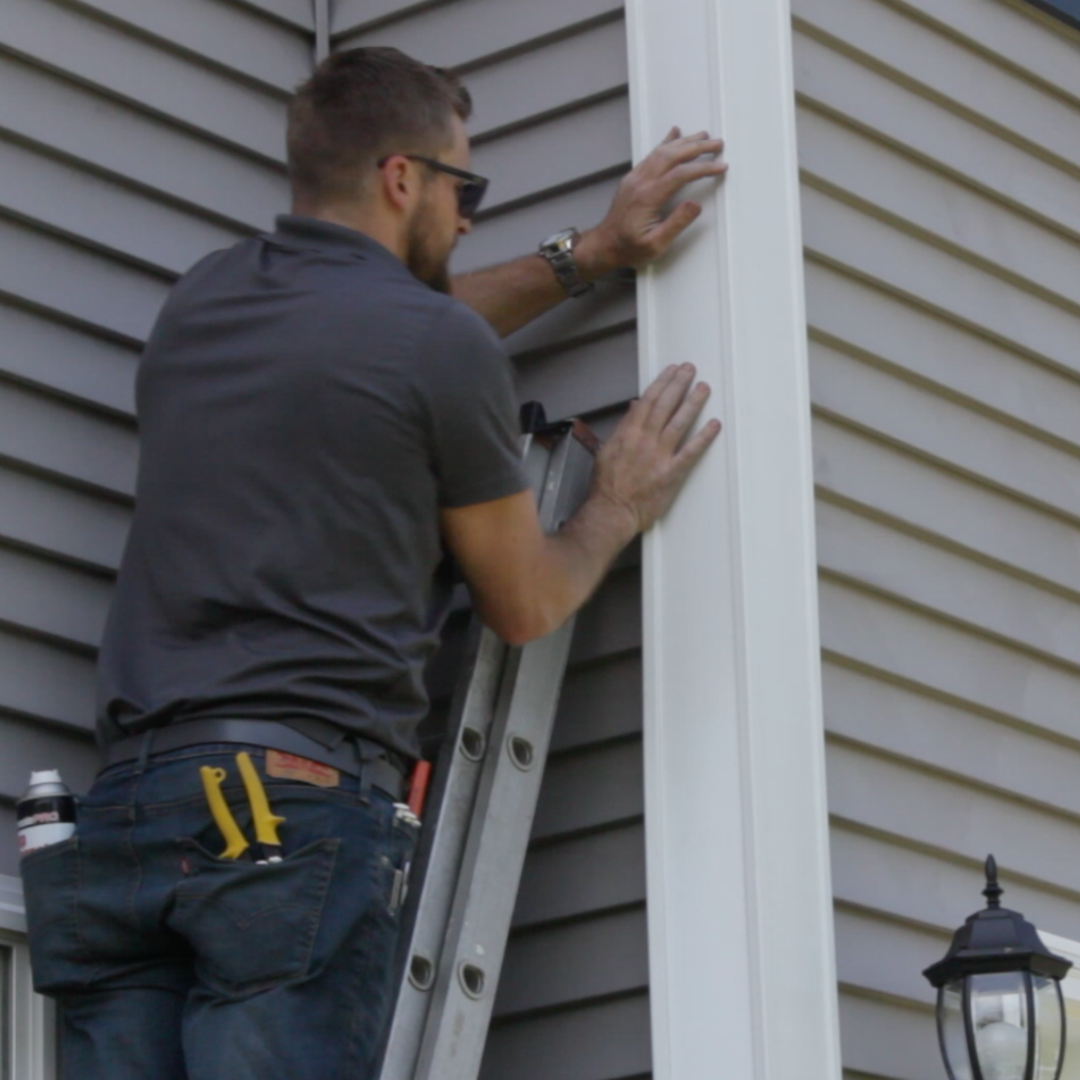 Don T Waste Time Money And Energy On Ripping Apart Your Vinyl Siding To Replace Cracked Or Broken Corners Simply Attach Corner Pro Vinyl Siding Vinyl Siding