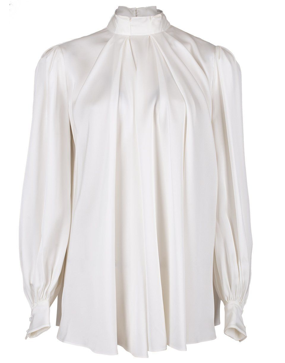 Ivory Silk High Neck Blouse in 2020
