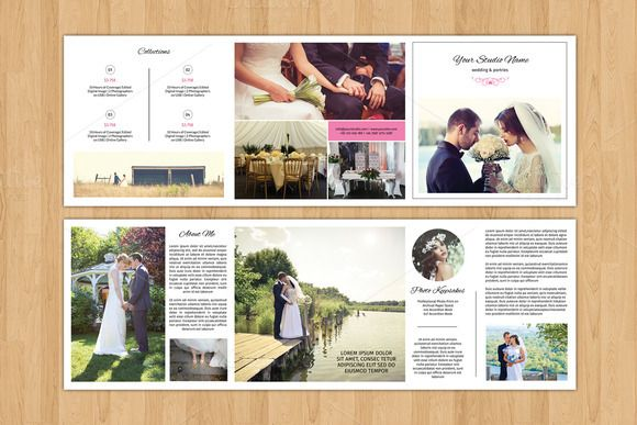 Square Trifold Wedding Brochure-V481 @creativework247 Templates