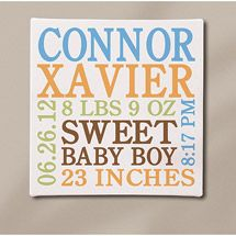 Pin by angela ringgold on house pinterest personalised baby can be diy using illustrator personalized baby info canvas blue x negle Images