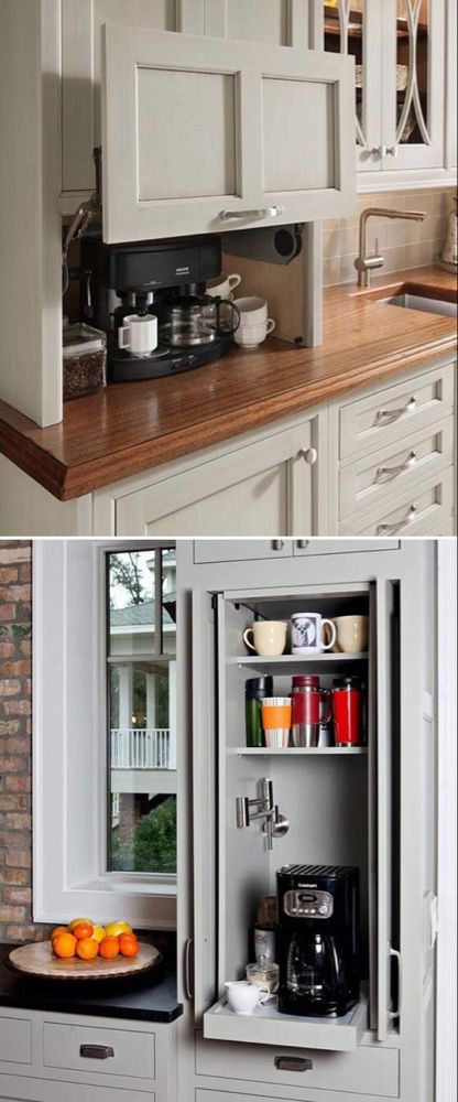 24 Places to Which You Can Build a Home Coffee Station - HomeDesignInspired -   15 diy projects Kitchen coffee stations ideas