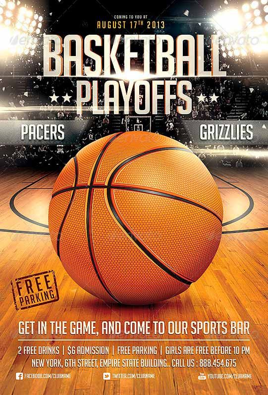 Basketball Game Flyer Template  Flyer Templates  Best Free And