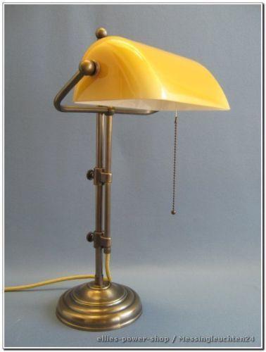 Banker Lampe Bankerleuchte Tischlampe Messinglampe TL 317