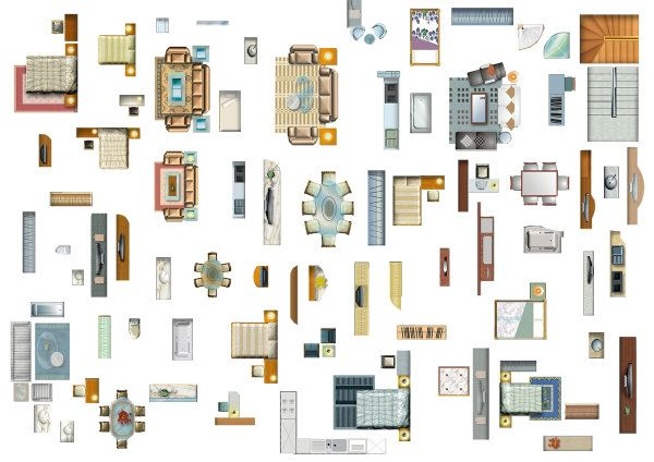 Furniture Layout PSD Layered Material Photoshop It In