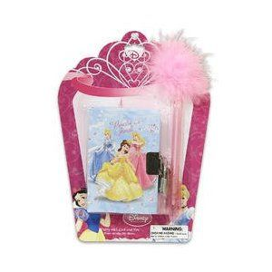 Disney Princess Diary with Lock and Fluffy Feather Pen 180 sheets by Jersey  Bling 123775178c770