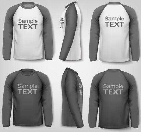 Mockup yang terdapat vasiari atau corak tertentu (tidak polos). Click Here Download Template Kaos 3 4 Cdr Long Sleeve Shirts Sweatshirt Designs Long Sleeve Sweatshirts