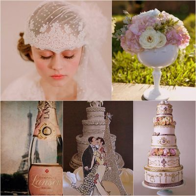 French Vintage Bridal Wedding Theme Add A Little French Flair With