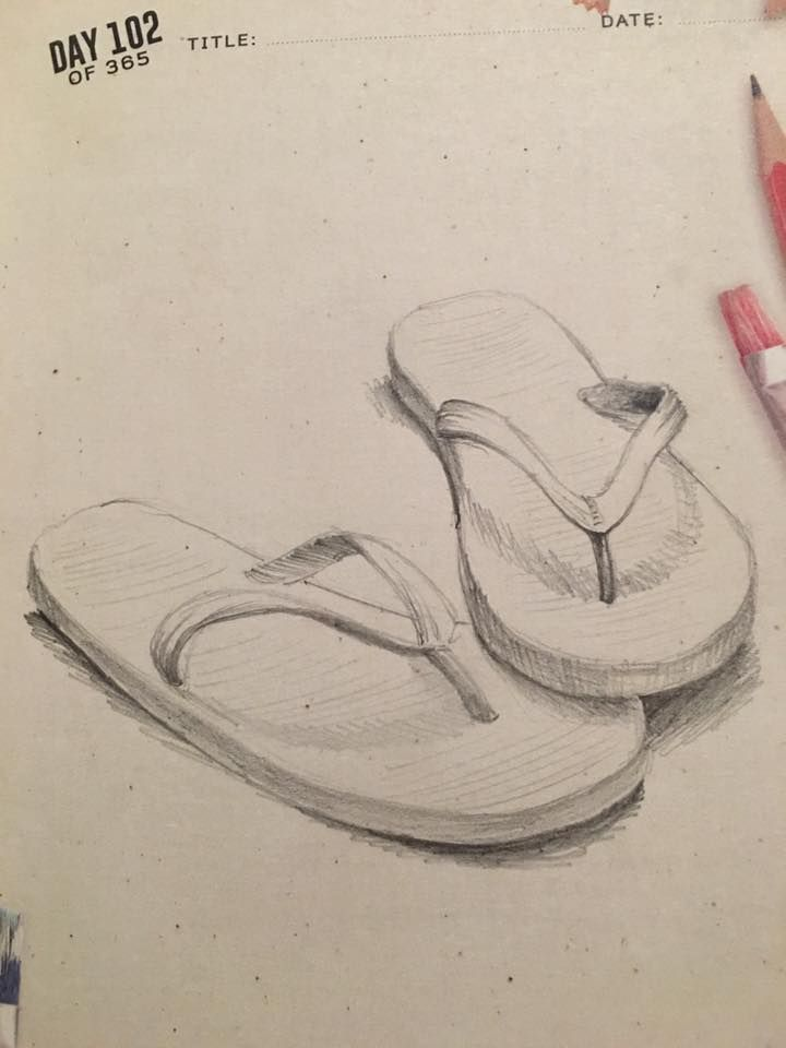 74a353938 Day 102  Drawing a Day Challenge. Summer theme month. Pair of good ...