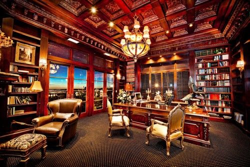 Manly Library Office Traditional Home Office I Love The Ceiling Of This Room Traditional Home Offices Traditional Home Office Home Office Design