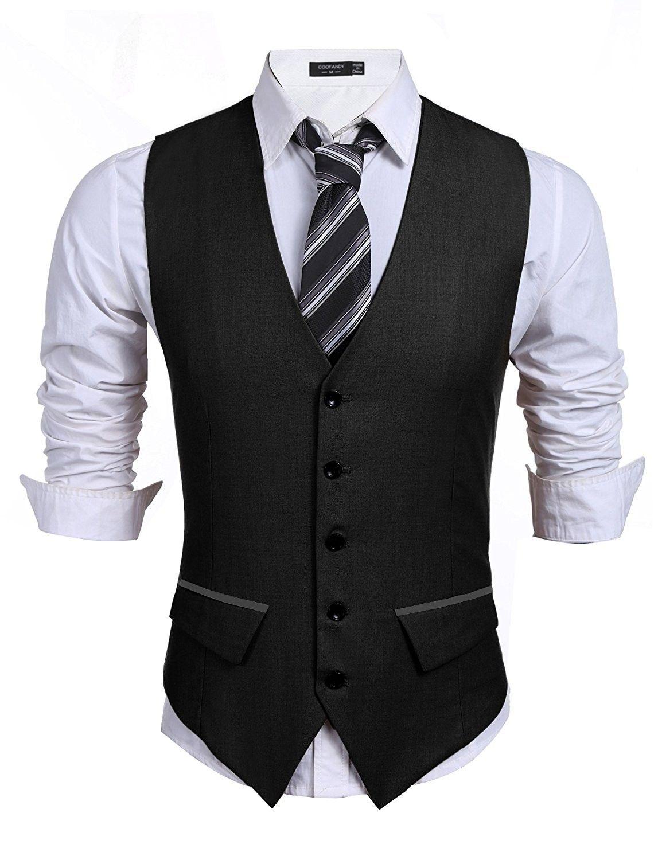 Men S Casual Slim Fit Skinny Wedding Dress Vest Waistcoat Black C21836690yl Business Suit Vest Mens Outfits Men S Business Suits [ 1500 x 1154 Pixel ]