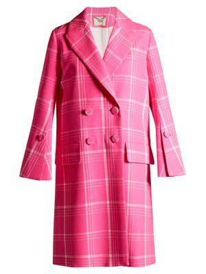 com Checked Matchesfashion Double Fr Fendi Coat Breasted q1wZ4XA