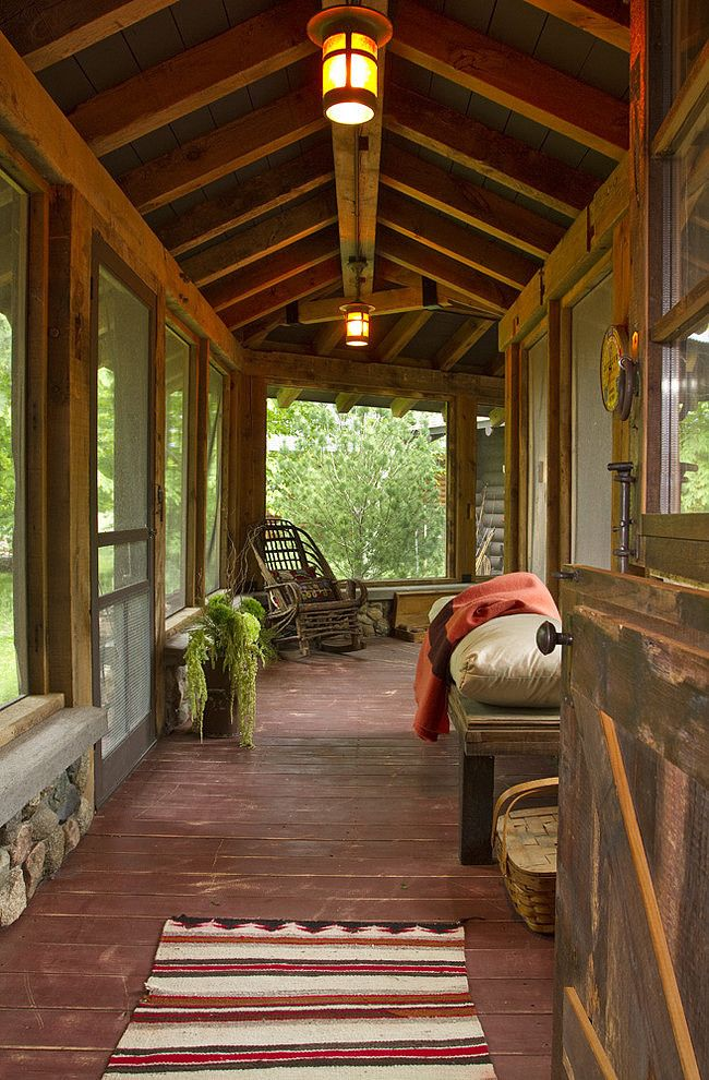 Rustic Sun Room Maine House Breezeway Sleeping Porch