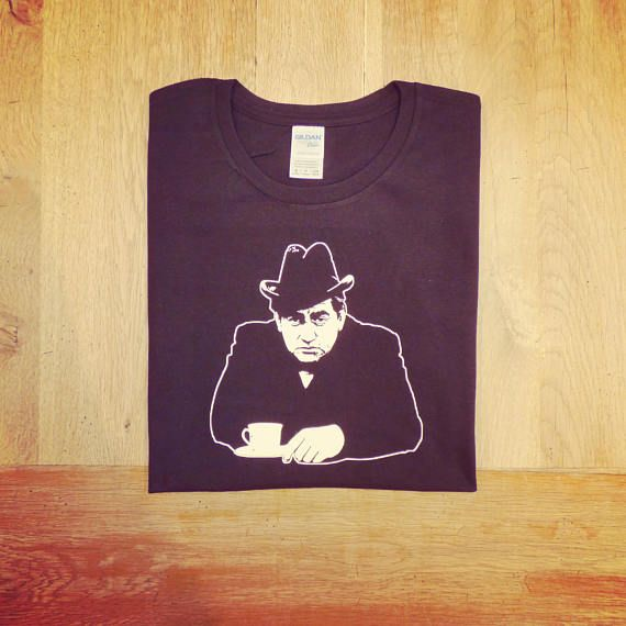 Tony Hancock British Legendary Comic Having A Cup Of Tea Leering Gloomily Out From This Great T Shirt Currently Selling At Much Better