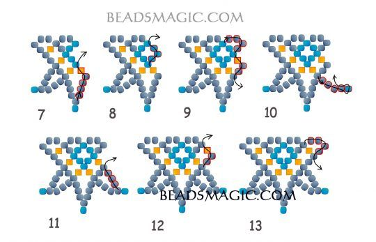 FREE Pattern for Necklace CELESTIAL. Page 3/4. Beads Magic