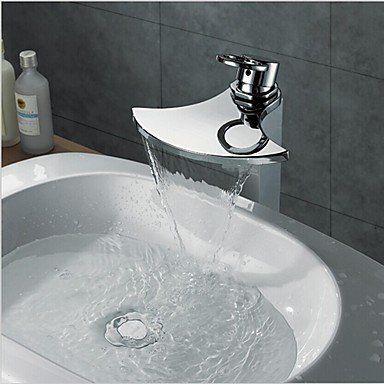 Contemporary Waterfall Chrome Brass Single Handle Bathroom Vessel Faucet HDX Bathroom Sink Faucets https://www.amazon.ca/dp/B00X9KHV64/ref=cm_sw_r_pi_dp_h0-.wbGJ8VK3X