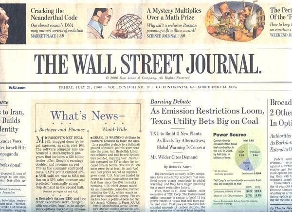 WSJ has recently tripled their subscription rates for most subscribers. For students however the rates are much lower $99.95/year