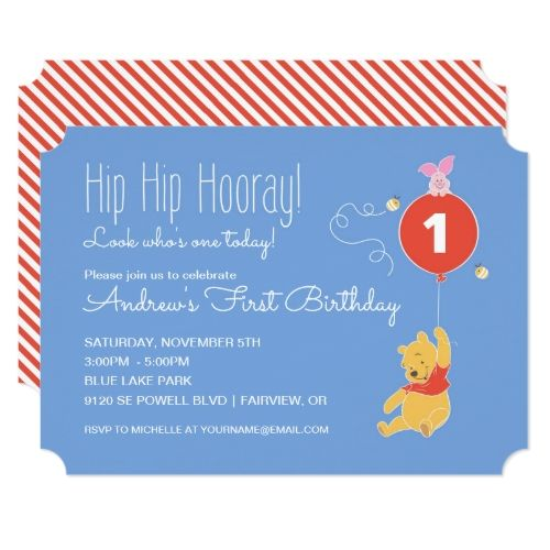Boys 1st birthday party winnie the pooh baby boy first birthday boys 1st birthday party winnie the pooh baby boy first birthday card bookmarktalkfo Image collections