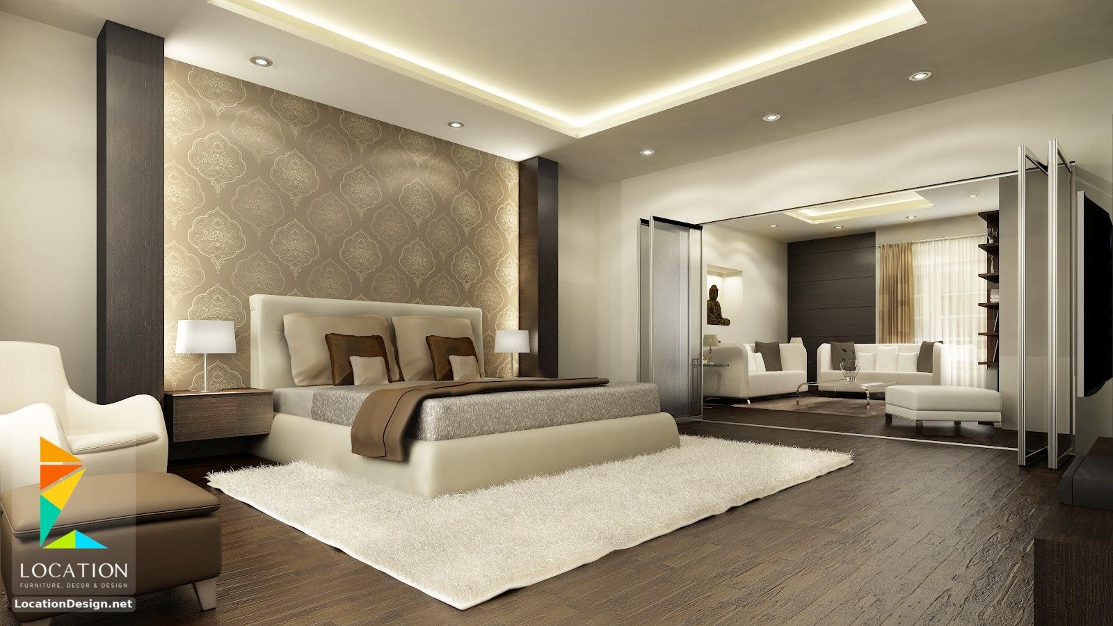 غرف نوم للعرسان كامله اسعار 2019 2020 Modern Master Bedroom