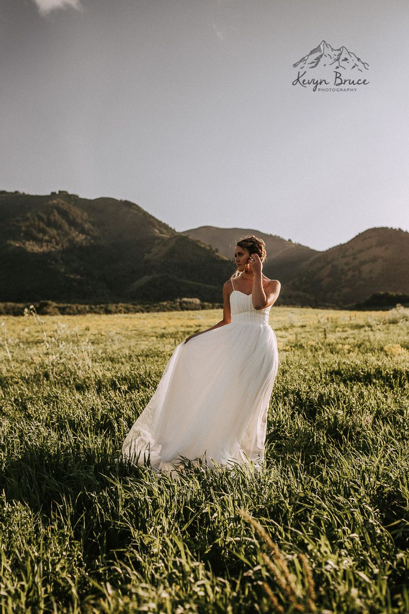 Mountain Bridal Portraits- Kevyn Bruce Photography {Utah Wedding Photographer} #bridalportraitposes