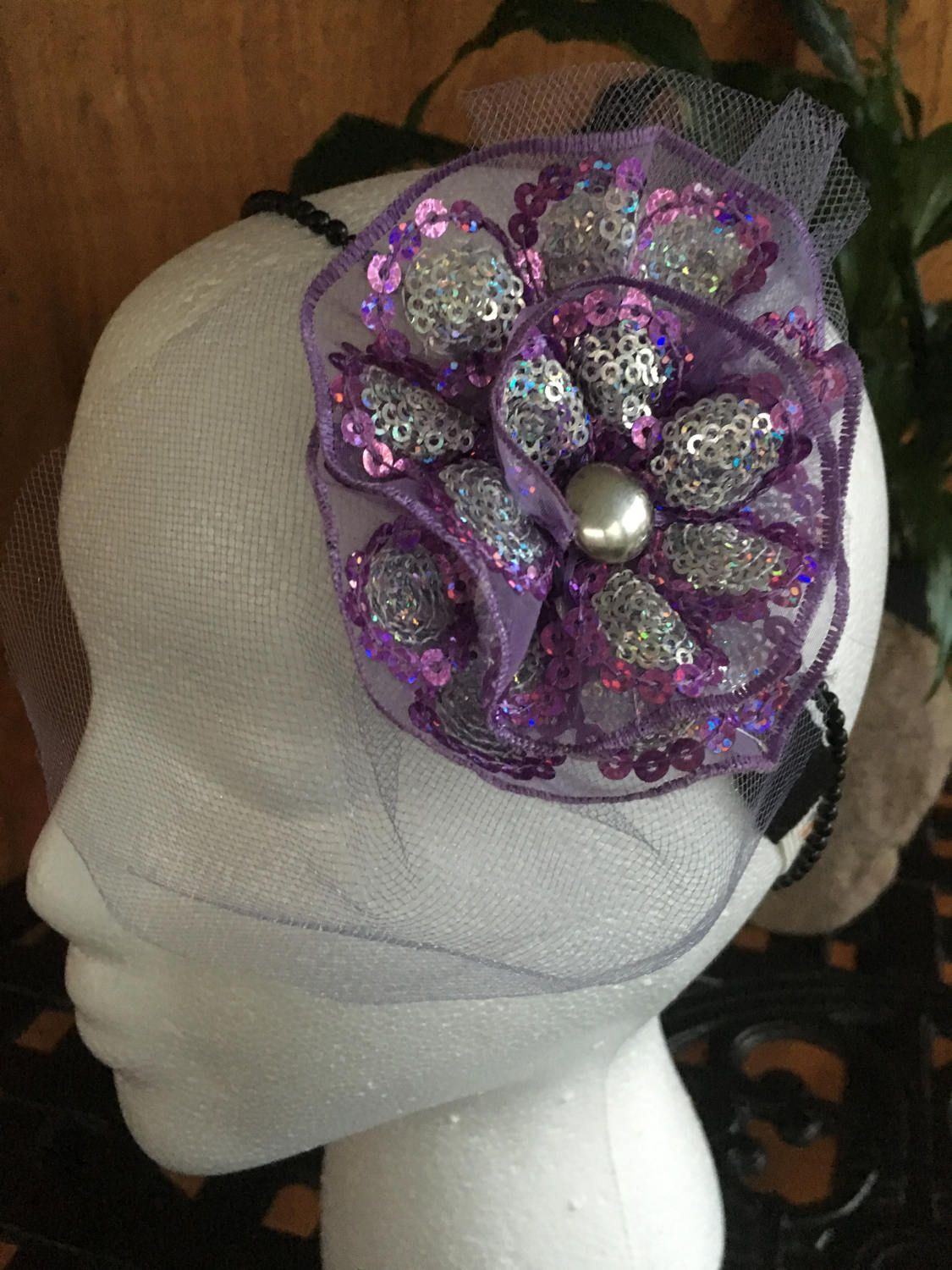 Sparkle fascinator by DaintylaceDesign on Etsy