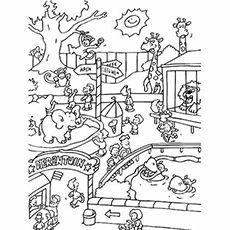 Top 25 free printable zoo coloring pages online scenario - Zoo animali da colorare ...