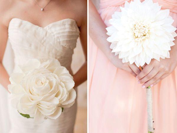 Ramo novia una sola flor blanca
