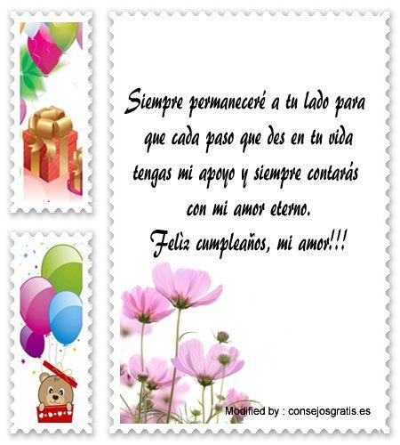 Mensajes De Texto De Cumpleaños Para Mi Esposo Palabras De Cumpleaños Para Mi Esposo Http Www Consejosgratis Es Palabras Para Happy Birthday Birthday Feliz