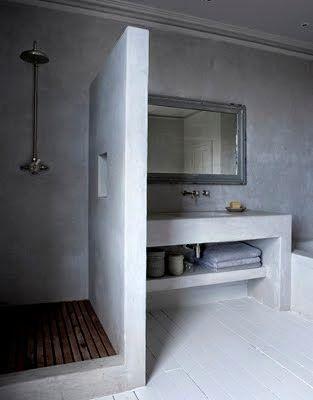 qui na jamais rv de refaire entirement sa salle de bain pour la rendre plus cozy moins froide plus moderne tout simplement bonne nouvelle - Idee De Separation Salle De Bain