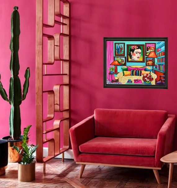 Frida Kahlo art print, Mexican art, Wall art print, Interior, Living room, Mexican decor is part of Living Room Art Prints - www ArtsyPrintsPlus com