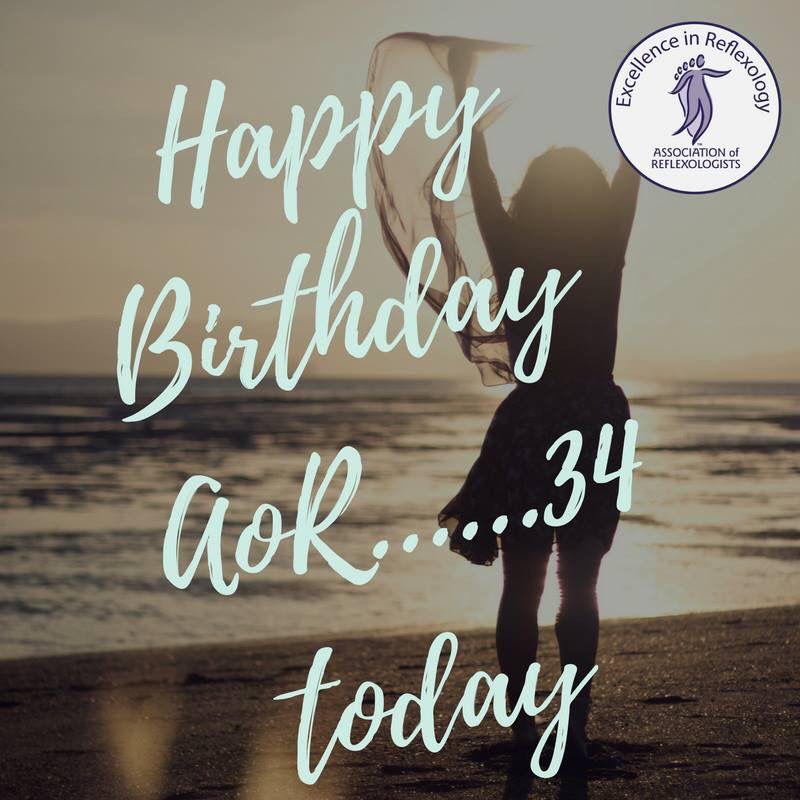 Happy Birthday AoR_Reflexology. 34 today! I'm proud to be