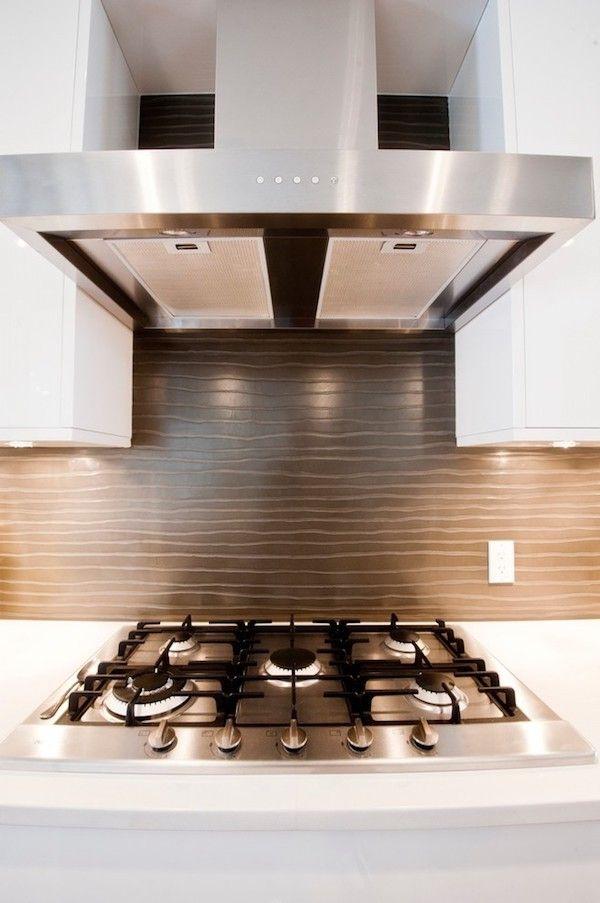 kuechenrueckwand ausgefallenes design moderne beleuchtung Küche