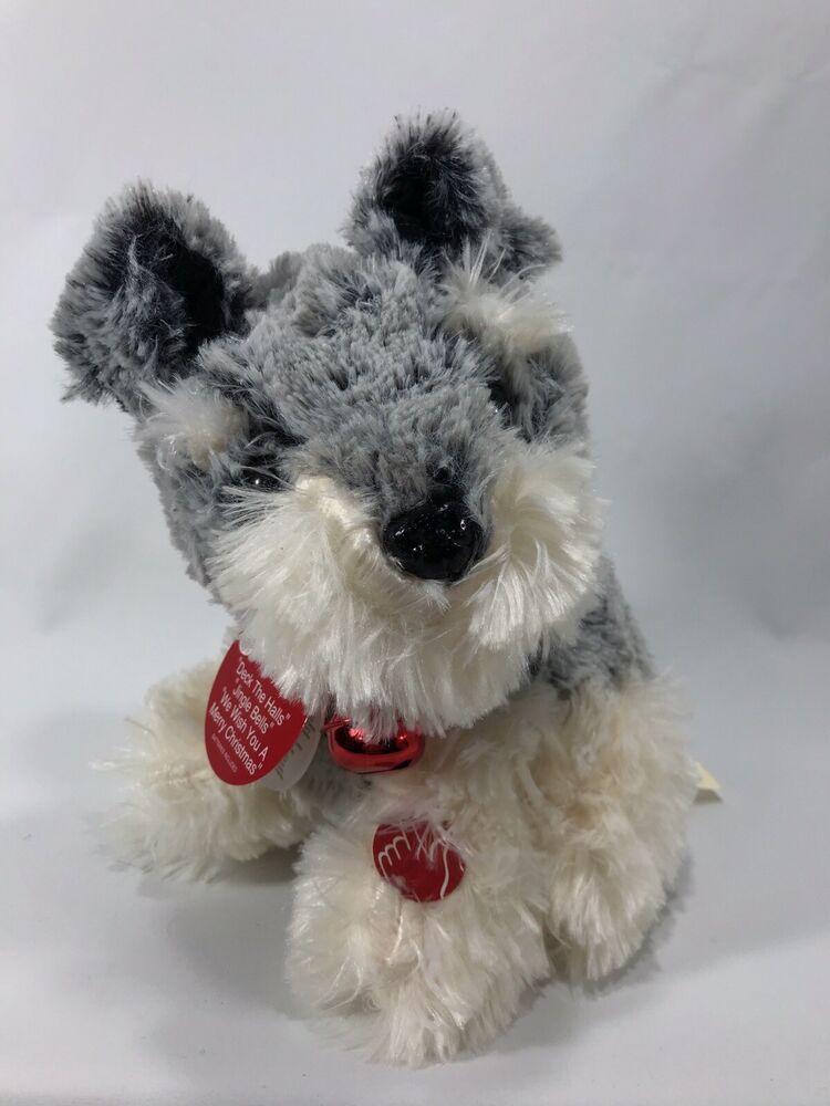 Dandee Dancing Spinning Christmas Jingle Bell Puppy Dog Schnauzer Plays 3 Songs Dandee In 2020 Christmas Dog Doodle Puppy Christmas Jingles