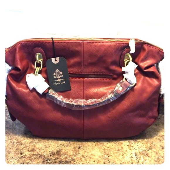 Memorial Day Sale!Moda Luxe Van Satchel Large Satchel! Color: berry Tulip shaped. Back zipper pocket. Never used. I can remove protective covering to show all the great hardware detail to serious inquiries only. Detachable shoulder strap included Moda luxe Bags Satchels