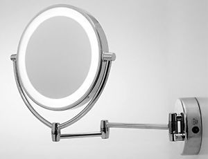 Led lighted vanity mirror makeup wall mount swivel 10x magnify led lighted vanity mirror makeup wall mount swivel 10x magnify chrome 95 bath aloadofball Choice Image