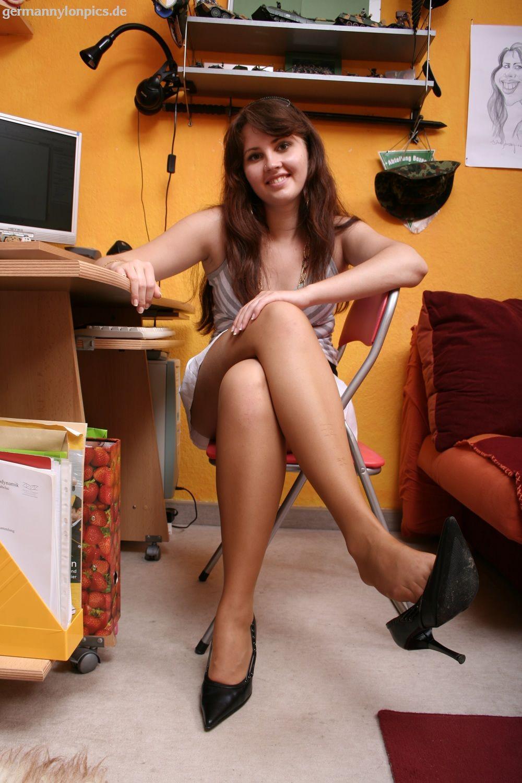 Teen legs stockings