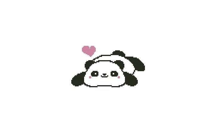 Cute Panda Counted Cross Stitch Chart by ExpressionEssentials