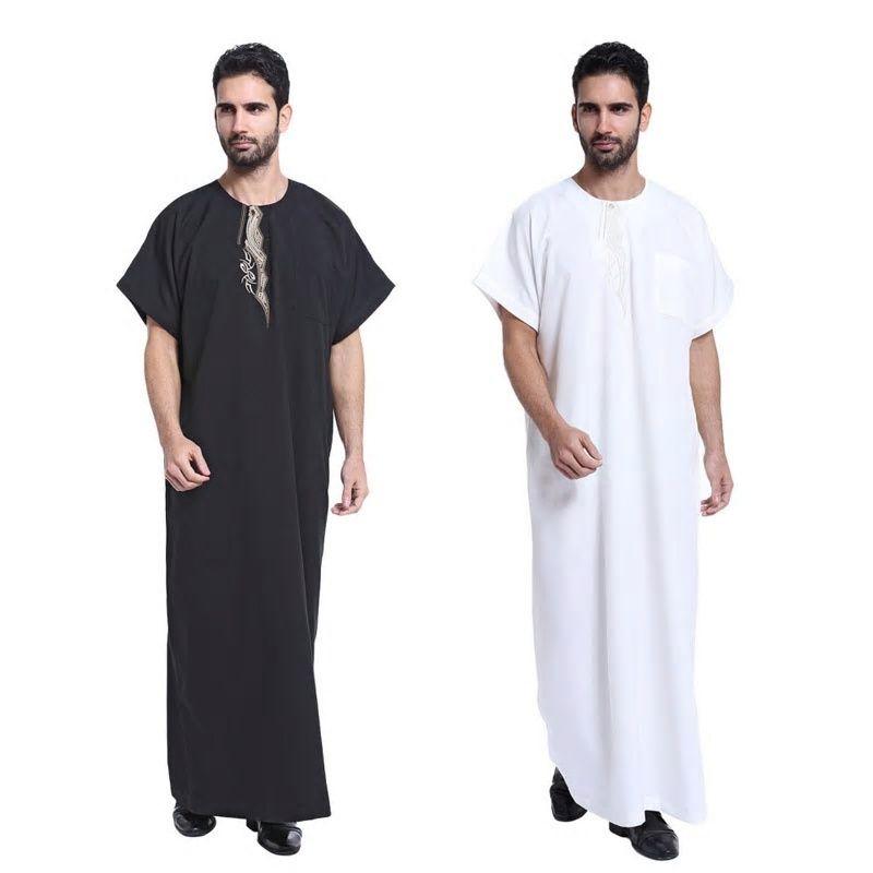 d86adb1326f4 Arab Muslim Clothing for Men The Middle East Arab Male People Dress Thobe  Arabic Islamic Abayas Indian Mens Kaftan Robe