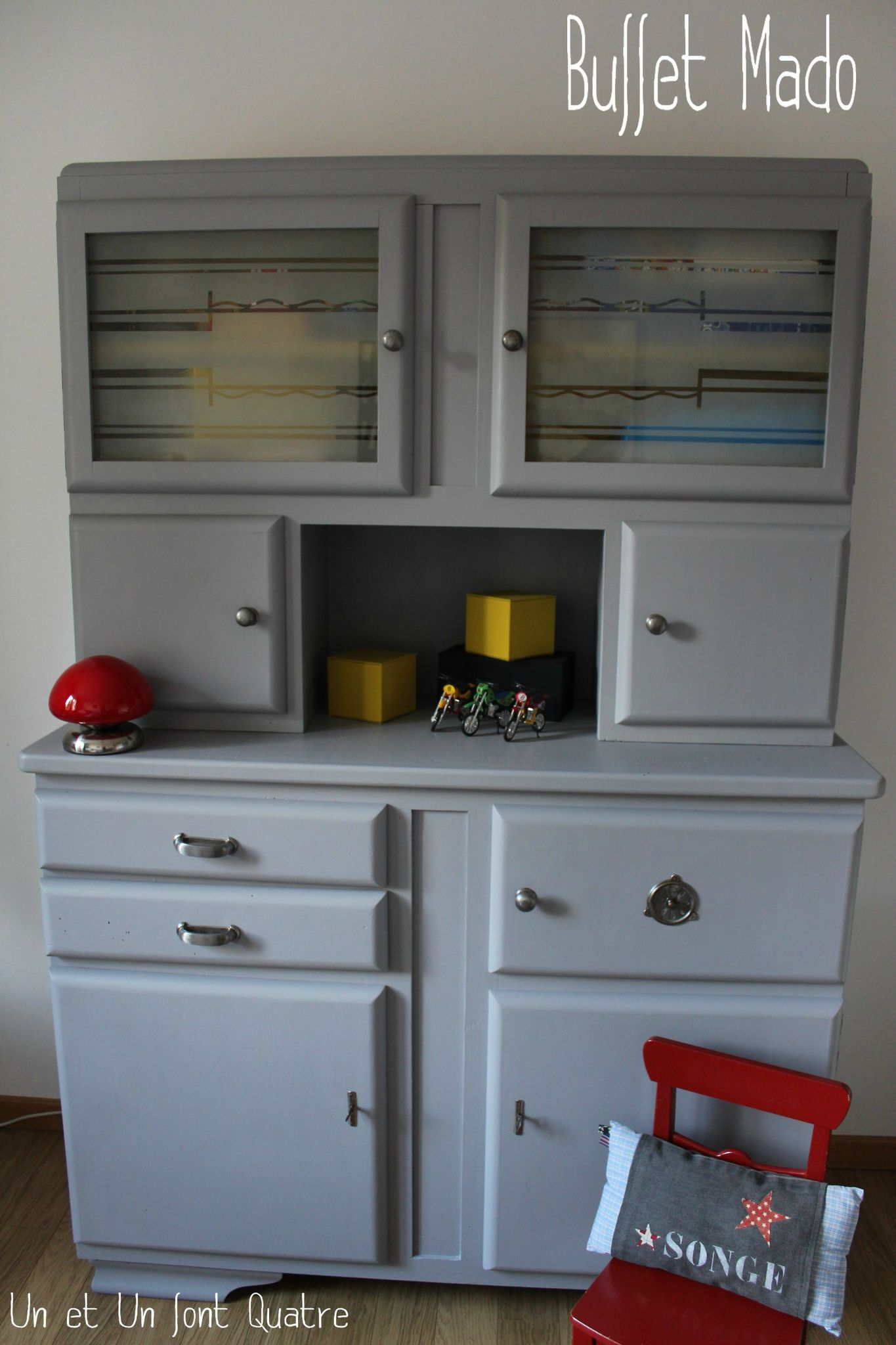 Buffet Mado gris et moutarde by Un et Un font Quatre | meuble ...