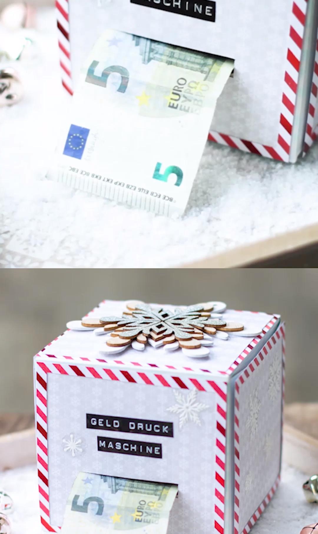 DIY Geld-Druck-Maschine - Geld-Geschenk für Weihnachten oder Geburtstag / DIY Geld-Geschenk