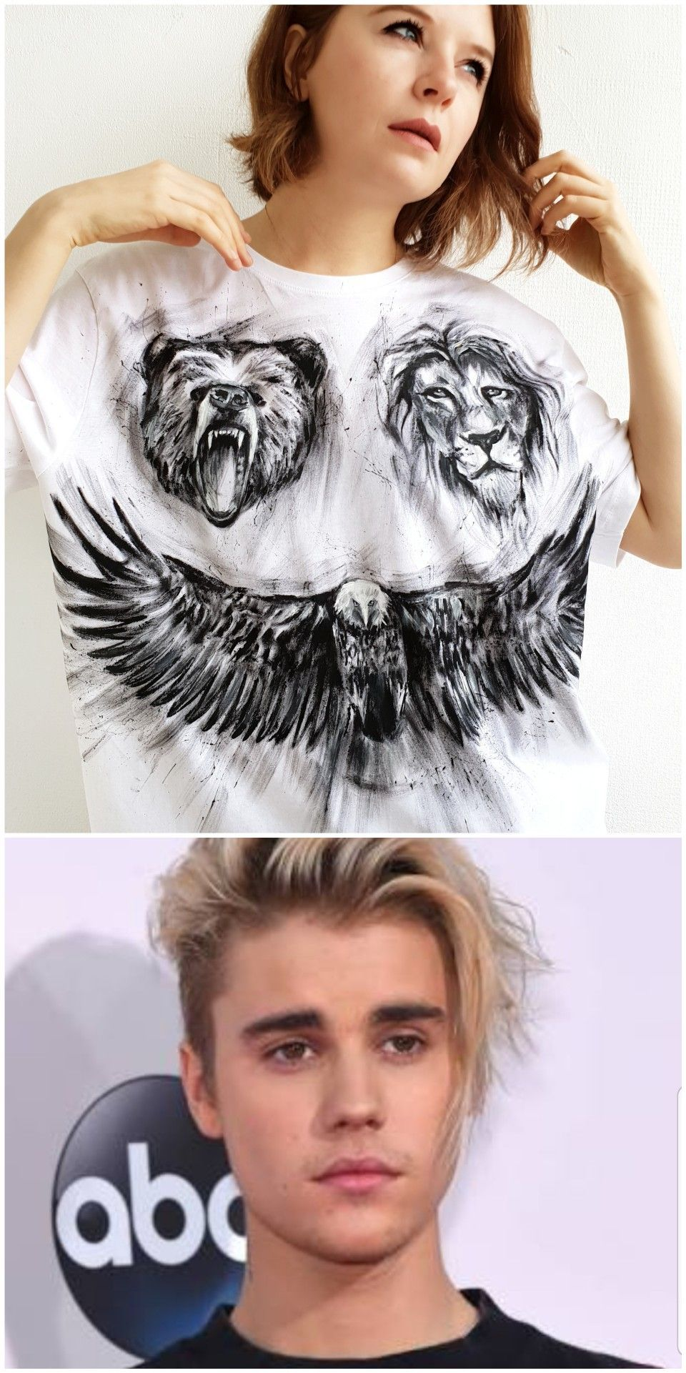 Watch me paint Justin Bieber's tattoos on a tshirt in 2020