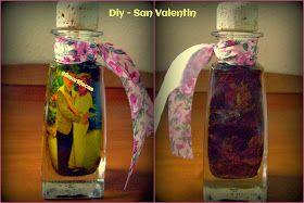 Regalo fácil para San Valentín: Diy - botella con foto. Conserva tu amor.