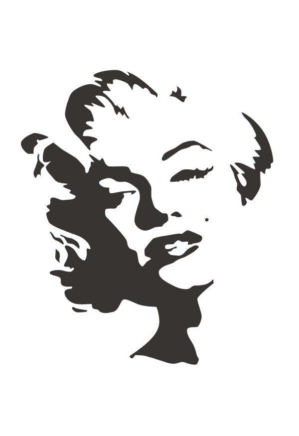 Portfolio Reaction Trafaret Merlin Monro Marilyn Monroe Stencil Face Stencils Stencil Graffiti