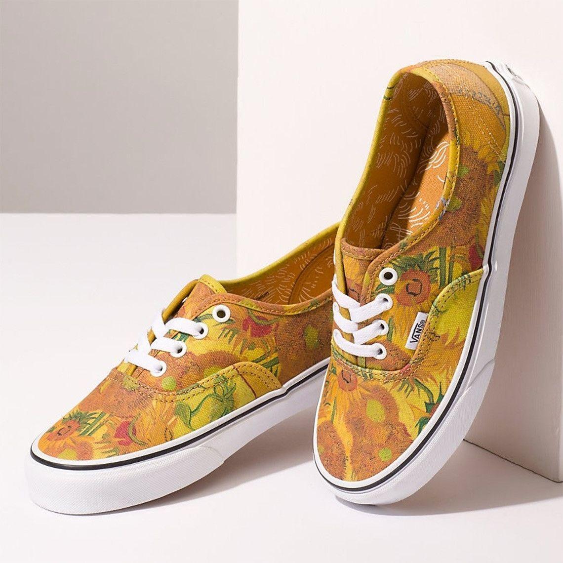Van Gogh Vans Shoes First Look Release Info Vans Shoes Vans Sunflower Vans