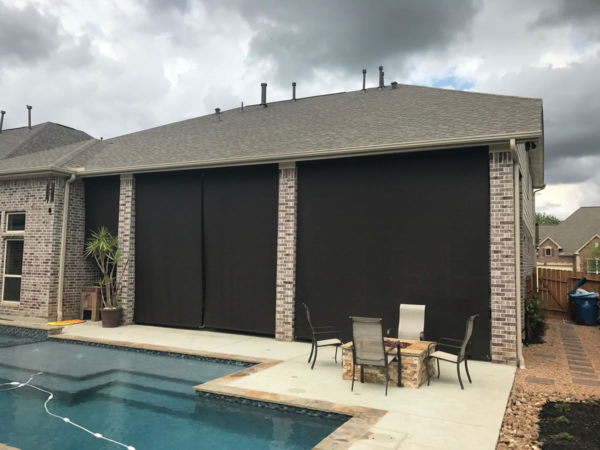 Houston Outdoor Shades Roll Up or Down