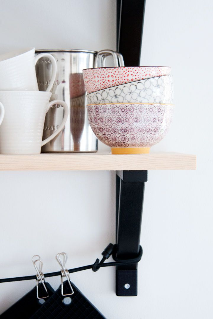 Bloomingville bowls #kitchen_shelves #purple