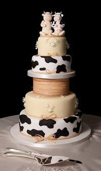 Cow Wedding Cake Cute