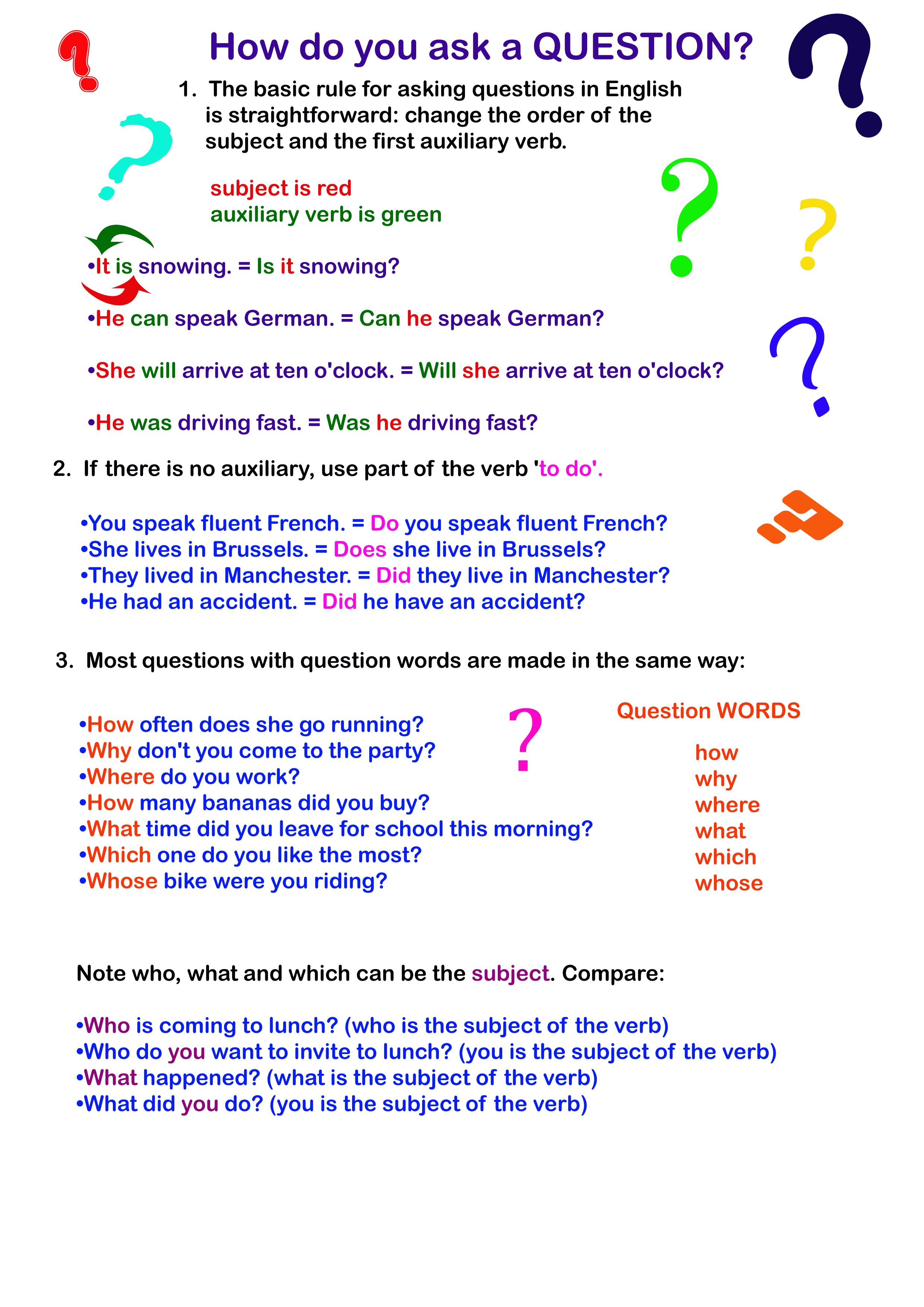 English Worksheet How To Ask A Question This So