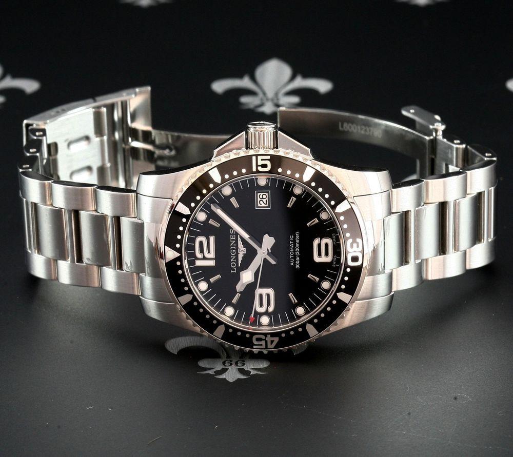 NOS LONGINES Swiss Hydroconquest 41mm Automatic  Cal. L633 Dive Date Watch LNIB