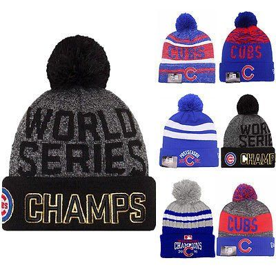 Official Chicago Cubs 2016 World Series Champions Knit Hat Beanie Cap 47  Brand 3131b2d76f4