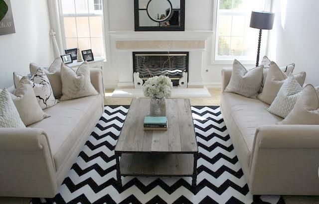 Add Some Interest To A Monochromatic Space With A Bold Chevron Rug Http Www Restylesource Com Product Chevron Rug 3698 Home Decor Home Living Room Home